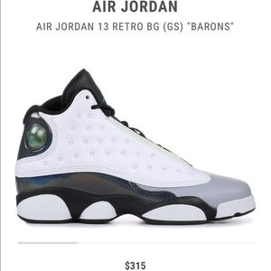 "RARE BIG KIDS Jordan 13 ""BARONS"""